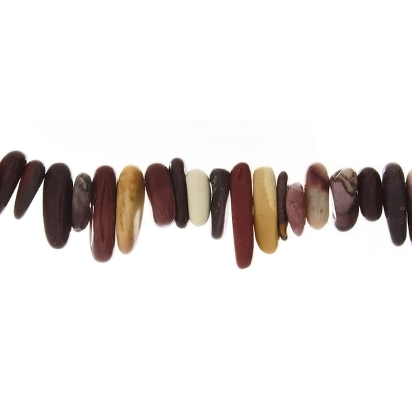 JASPER MOOKAITE NEEDLE 6 X 18 MM STRAND