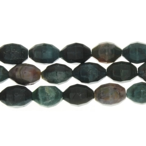 JASPER FANCY MELON FACETED 10 X 14 MM STRAND