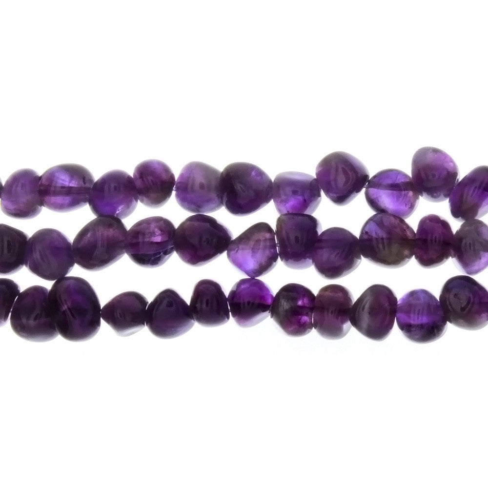 AMETHYST PEBBLE 7 MM STRAND