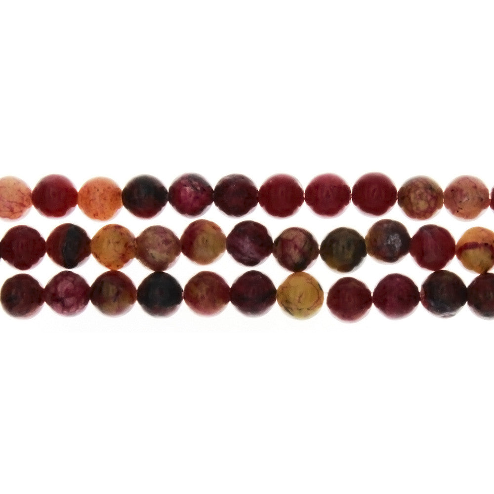 JASPER TURTLE RED ROUND 6 MM STRAND