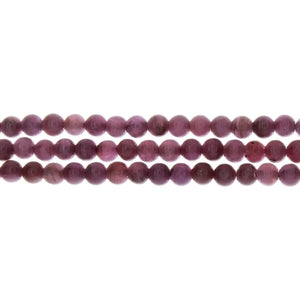 RUBY STAR ROUND 5 MM STRAND