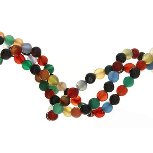 DYED MULTICOLOR ROUND 6 MM STRAND