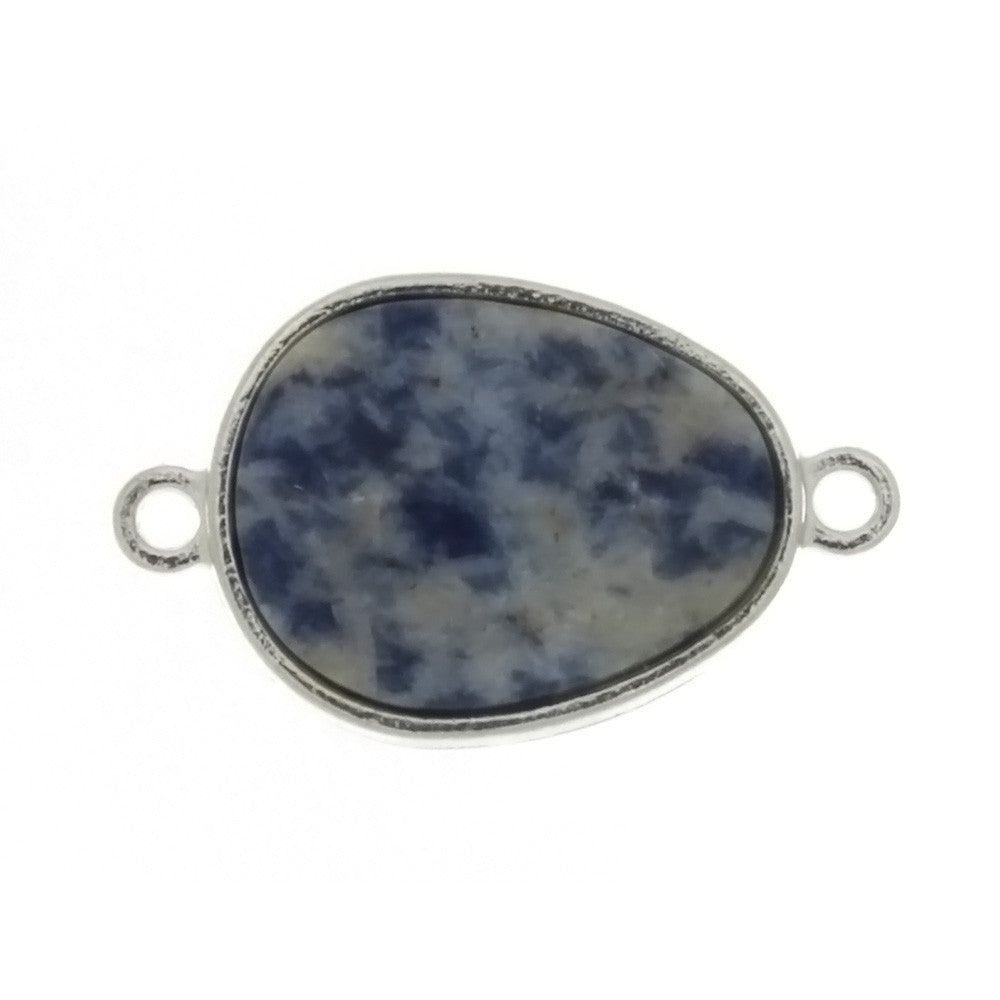 BEAD CONNECTOR GEMSTONE SODALITE FREEFORM 15 X 20 MM FINDING