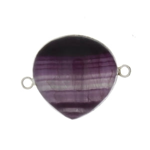 BEAD CONNECTOR GEMSTONE FLUORITE PEAR 22 MM FINDING
