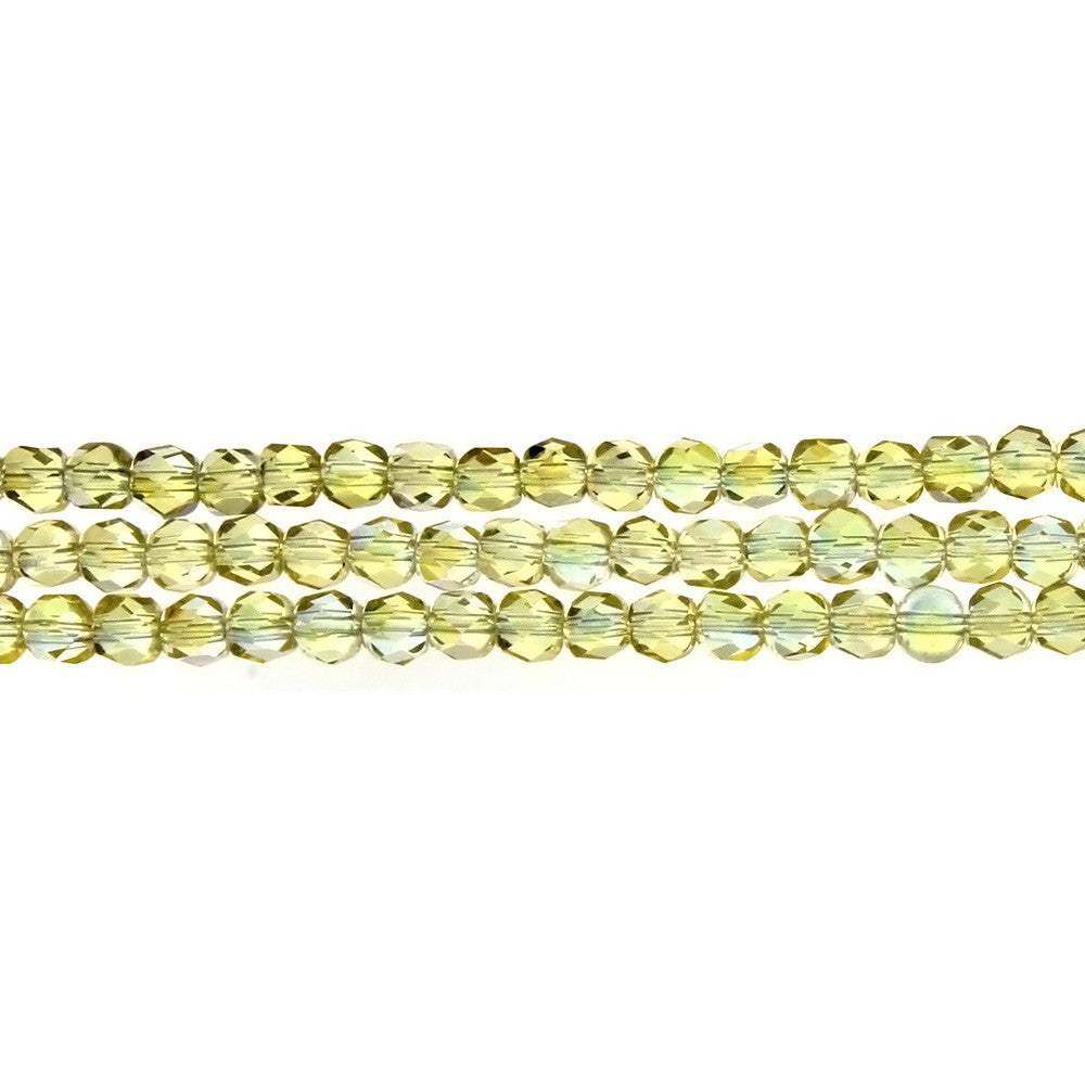 CHINESE CRYSTAL HANDCUT FACETED 4 MM STRAND
