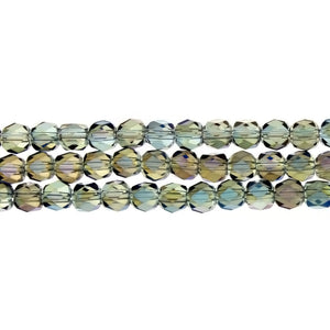 CHINESE CRYSTAL HANDCUT FACETED 6 MM STRAND