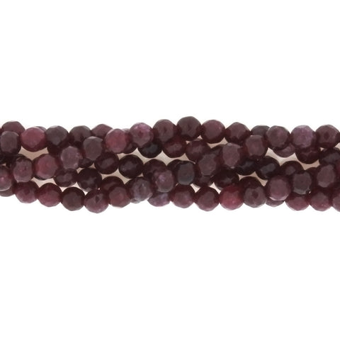 DYED ROUND FACETED 4 MM STRAND