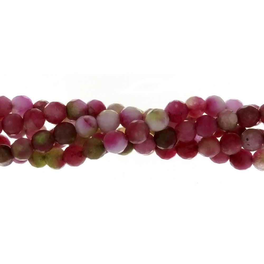 DYED ROUND FACETED 6 MM STRAND