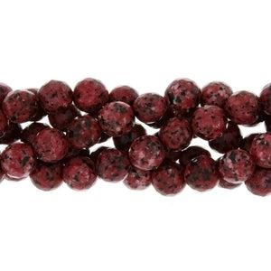 DYED ROUND FACETED 8 MM STRAND