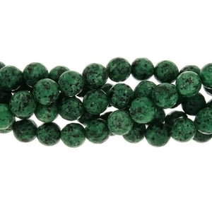 DYED ROUND FACETED 10 MM STRAND