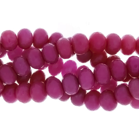 DYED RONDELLE FACETED 12 X 16 MM STRAND