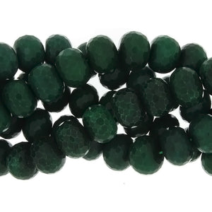 DYED RONDELLE FACETED 15 X 20 MM STRAND