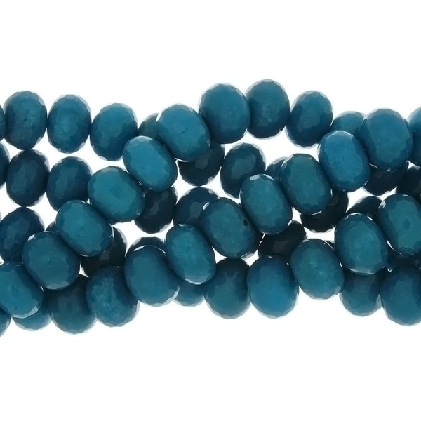 DYED RONDELLE FACETED 10 X 14 MM STRAND