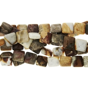 NATURAL SQUARE 18 MM STRAND