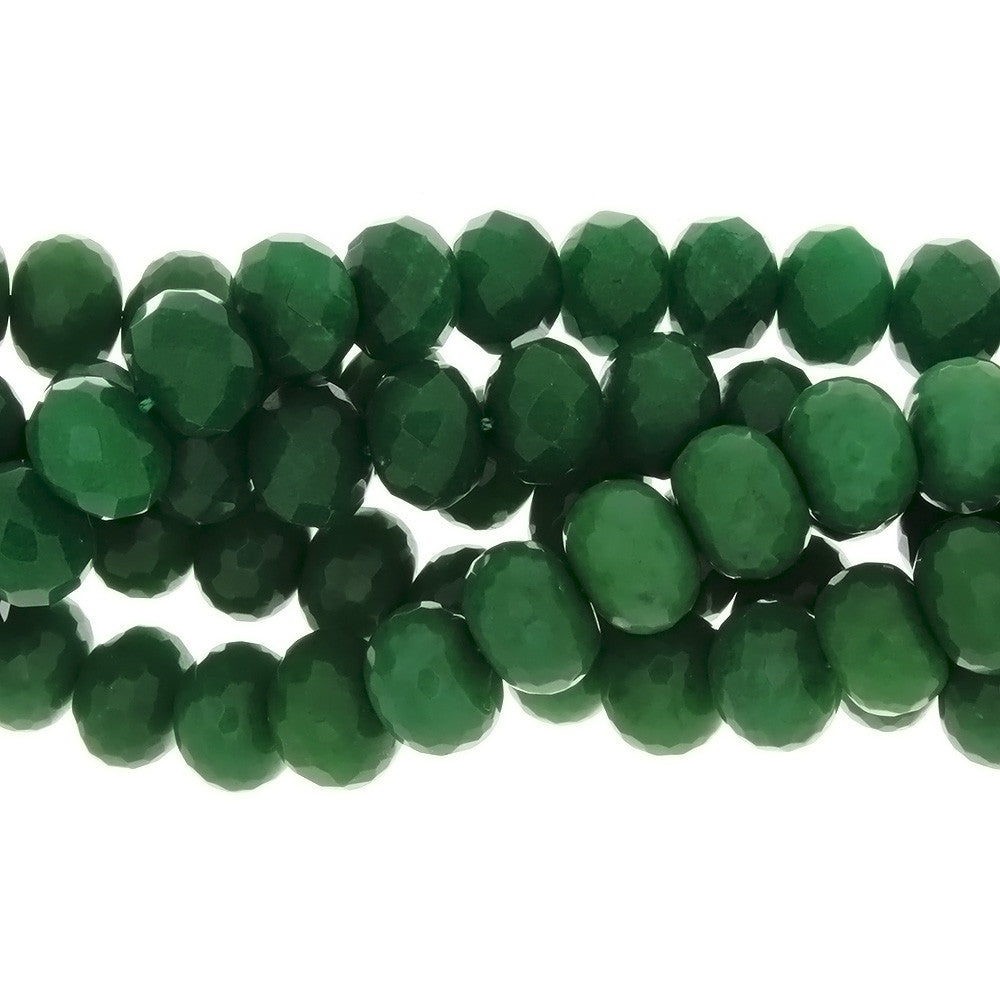 DYED RONDELLE FACETED 13 X 16 MM STRAND