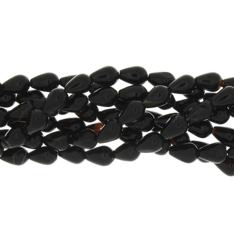 BLACK DROPLET 3 X 6 X 9 MM STRAND