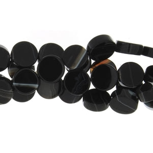 BLACK COIN 12 MM STRAND
