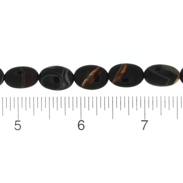 BLACK OVAL 10 X 14 MM STRAND