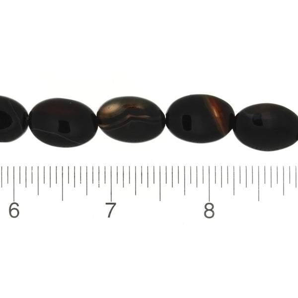 BLACK OVAL 13 X 18 MM STRAND
