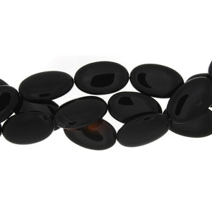BLACK OVAL 25 X 40 MM STRAND