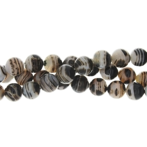 BANDED ROUND 10 MM STRAND