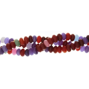 DYED MULTICOLOR RONDELLE 6 X 10 MM STRAND