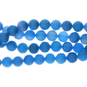 DYED BLUE ROUND 8 MM STRAND