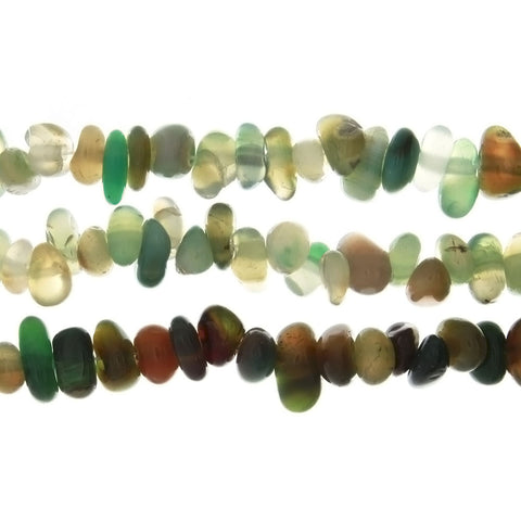 DYED GREEN PEBBLE 5 MM STRAND