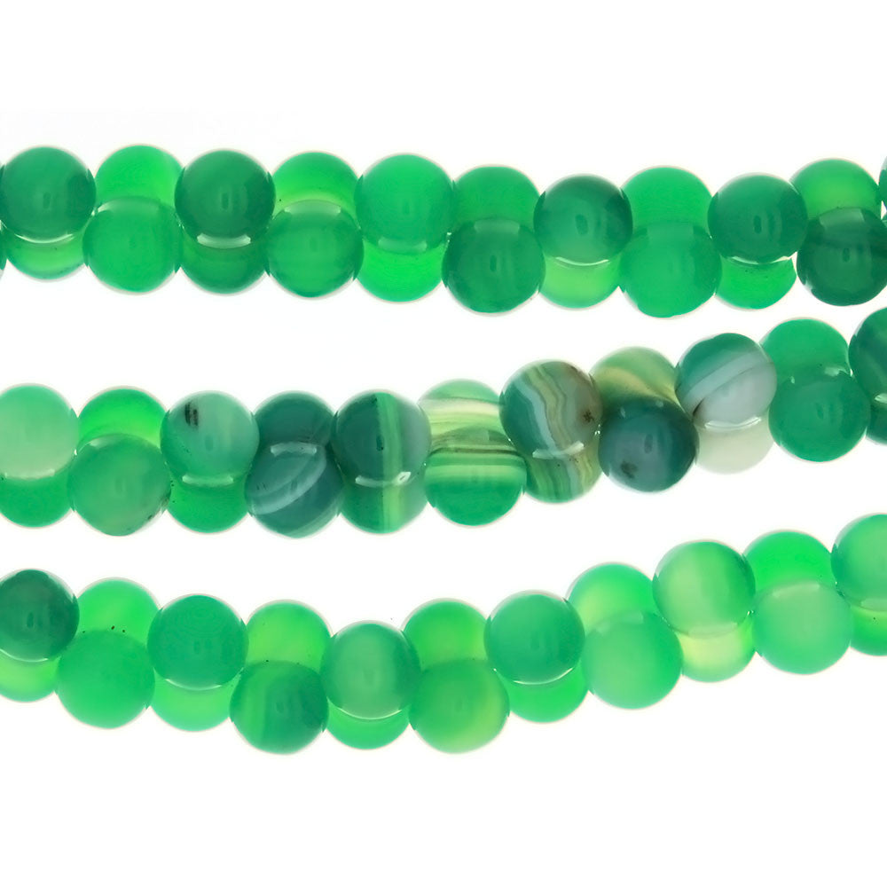 DYED GREEN PEANUT 9 X 15 MM STRAND