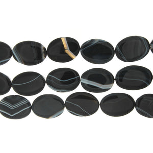 BLACK LINE OVAL 22 X 30 MM STRAND