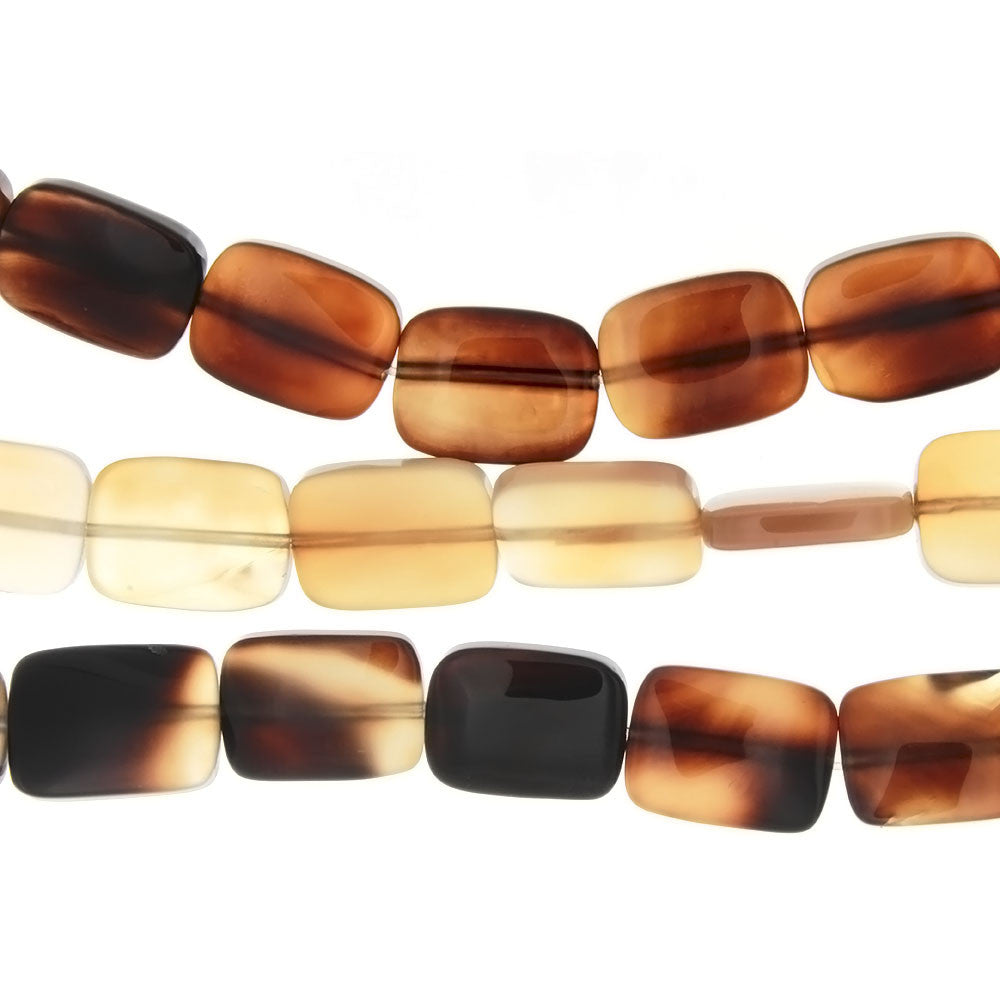 NATURAL RECTANGLE 15 X 20 MM STRAND