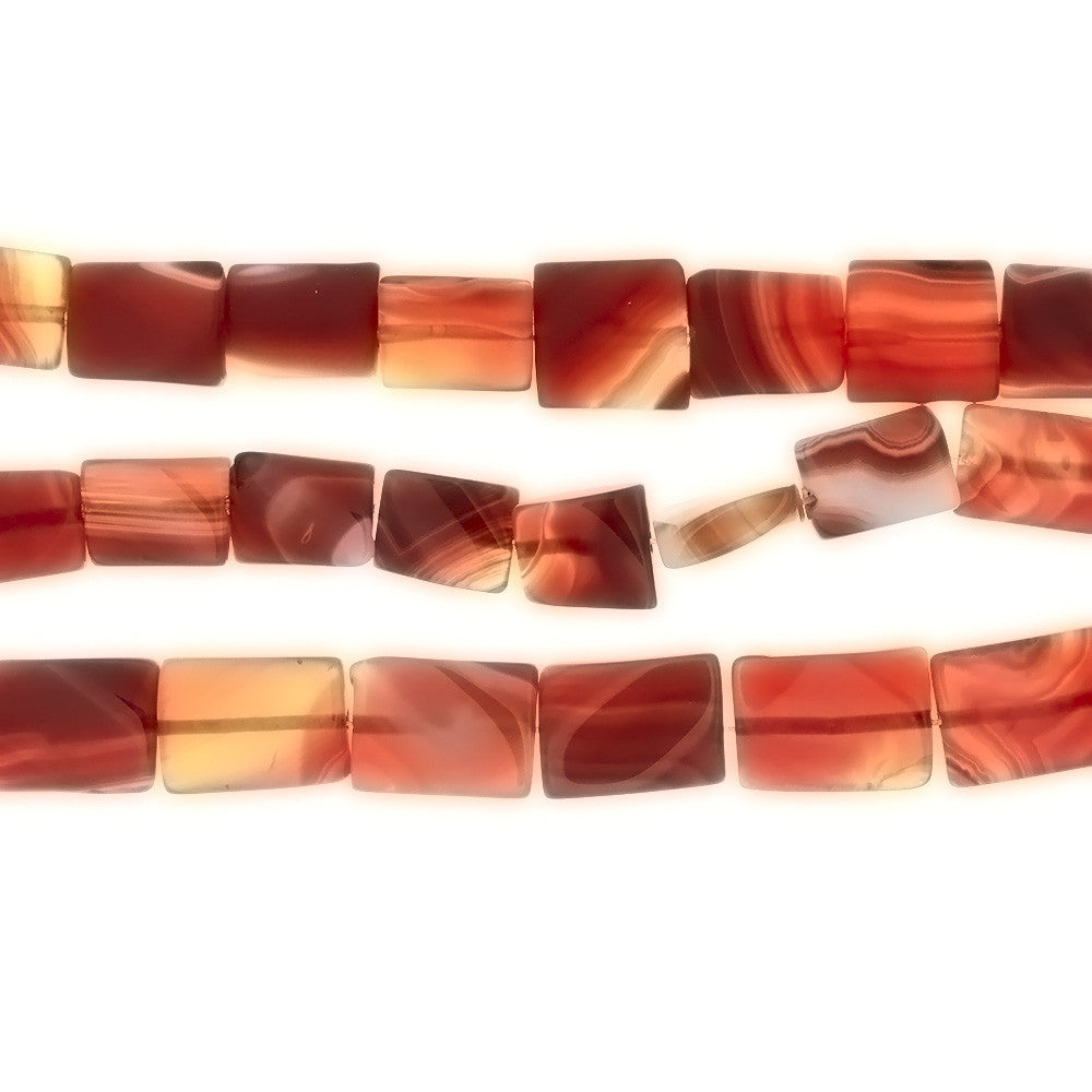 RED RECTANGLE 15 X 20 MM STRAND