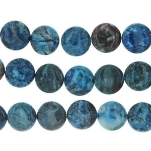 LAGUNA LACE BLUE COIN 20 MM STRAND