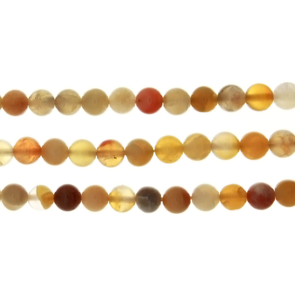 BOTSWANA YELLOW ROUND 6 MM STRAND