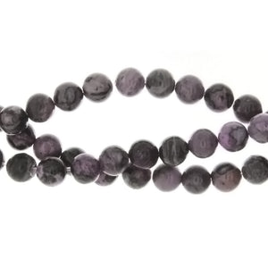 LAGUNA LACE PURPLE ROUND 6 MM STRAND