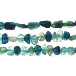 APATITE GREEN & BLUE NUGGET STRAND