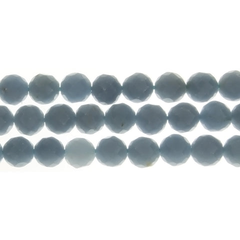 ANGELITE ROUND FACETED 8 MM STRAND