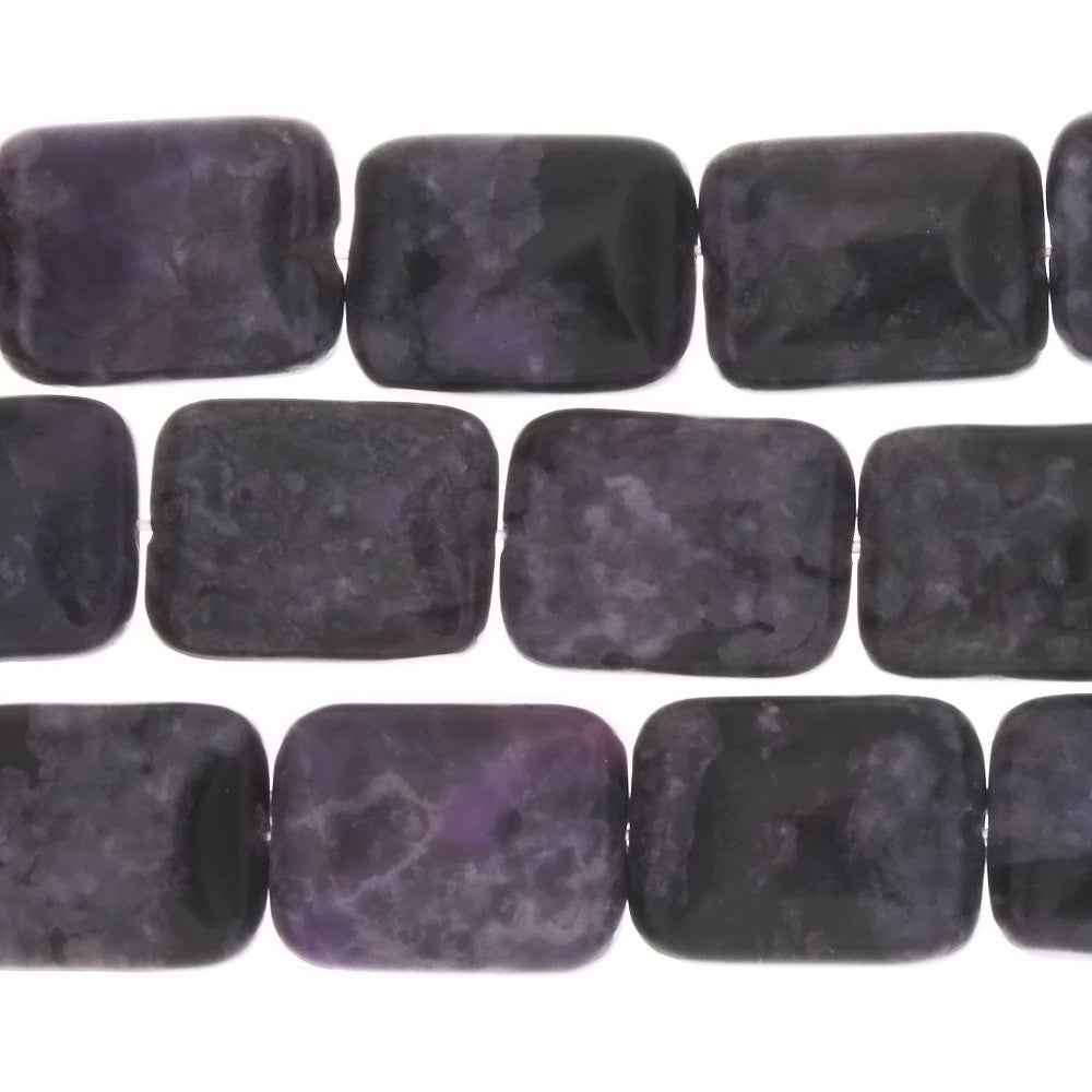 JASPER SUGILITE RECTANGLE 9 X 14 MM STRAND
