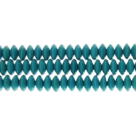 TURQUOISE MAGNESITE SAUCER 4 X 8 MM STRAND