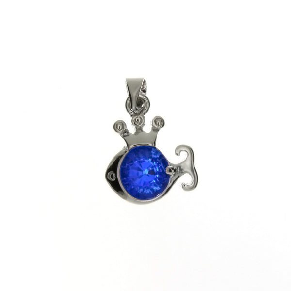 CUBIC ZIRCONIA FISH 14 X 17 MM PENDANT
