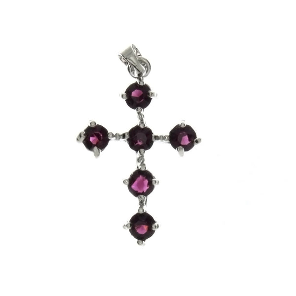 CUBIC ZIRCONIA CROSS 20 X 30 MM PENDANT