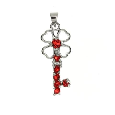 CUBIC ZIRCONIA KEY 12 X 29 MM PENDANT