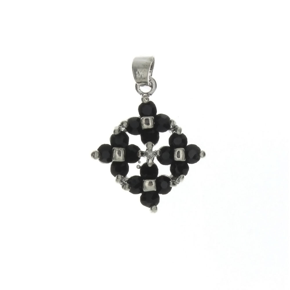 CUBIC ZIRCONIA DIAMOND 18 X 21 MM PENDANT