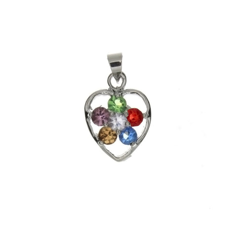 CUBIC ZIRCONIA HEART 13 X 18 MM PENDANT