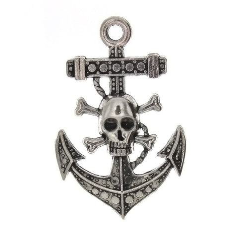NOVELTY ANCHOR 35 X 55 MM PEWTER CHARM