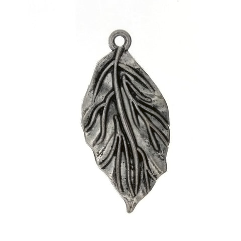 NATURE LEAF 20 X 40 MM PEWTER CHARM
