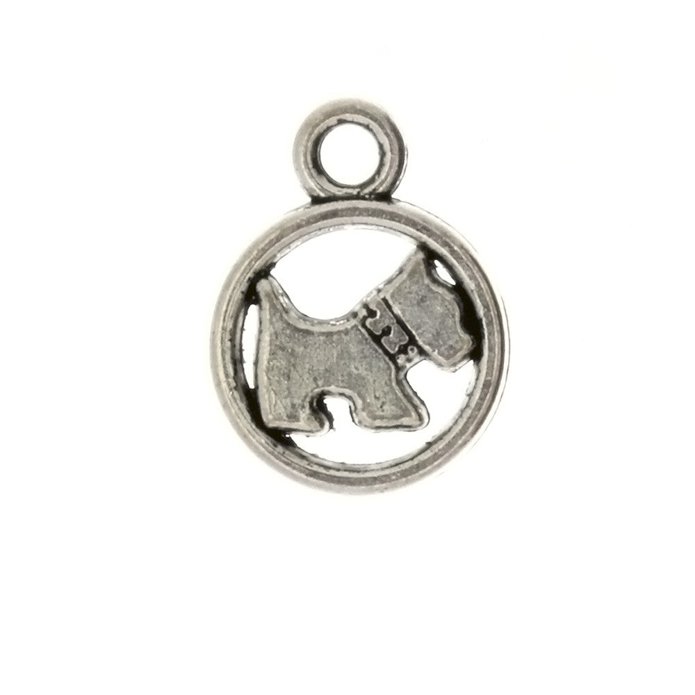 ANIMAL SCOTTIE DOG 16 X 21 MM PEWTER CHARM