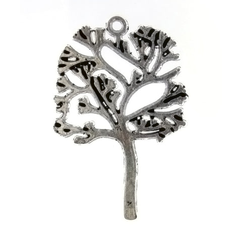NATURE TREE 30 X 40 MM PEWTER CHARM