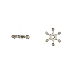 BEAD NATURE SNOWFLAKE 2 X 11 MM