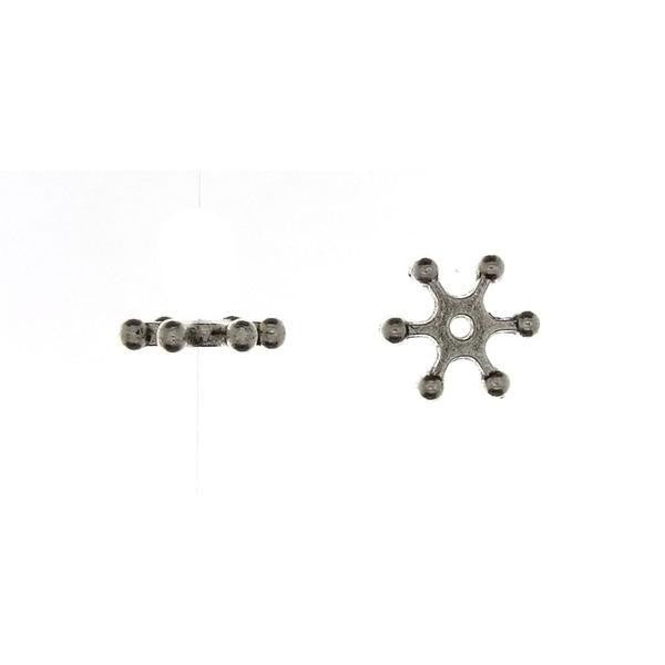 BEAD NATURE SNOWFLAKE 2 X 7 MM